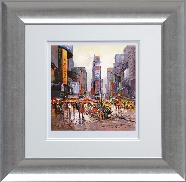 Flower Stall, Manhattan by Henderson Cisz - Limited Edition on Paper sized 12x12 inches. Available from Whitewall Galleries